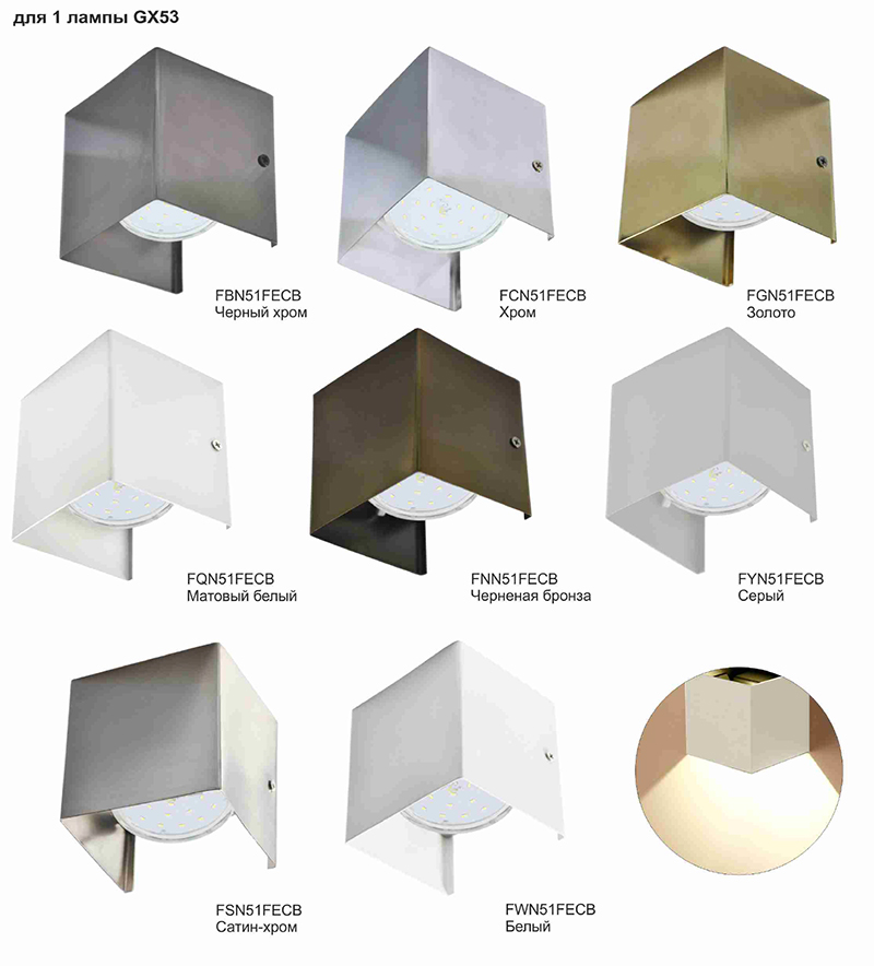 Настенный светильник Ecola